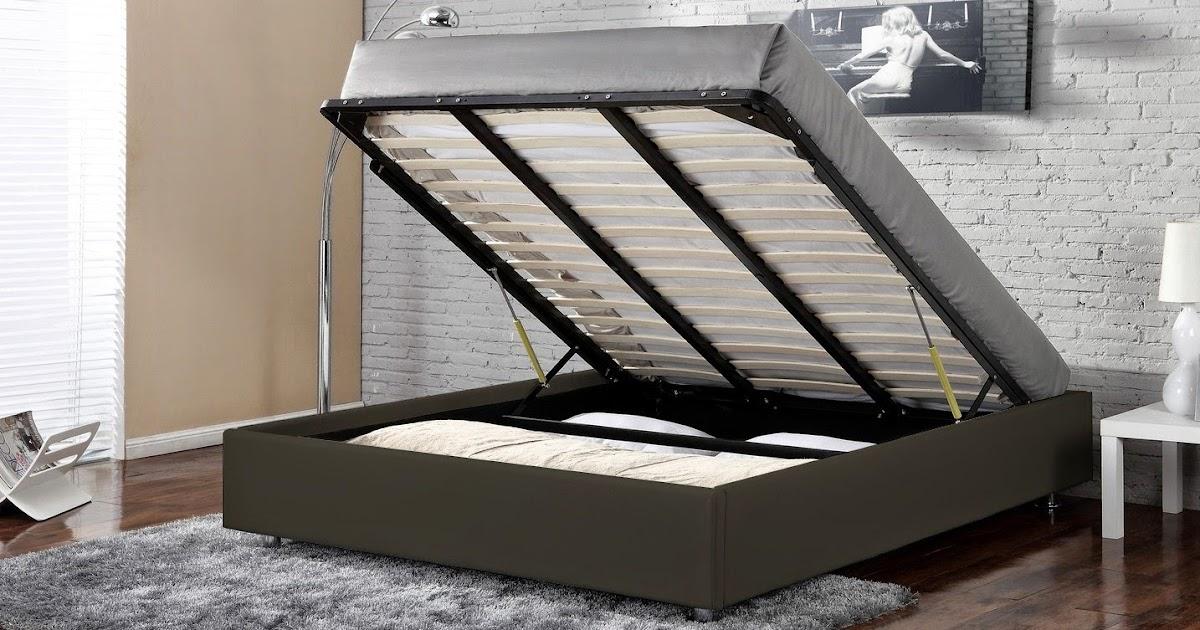 decco interieur lit box coffre 90 single 140 160 kingsize 180 x 200 noir ou blanc. Black Bedroom Furniture Sets. Home Design Ideas