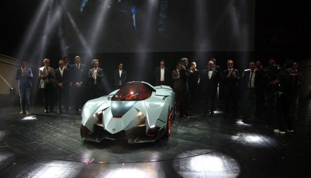 Captivating Lamborghini CEO Stephan Winkelmann And Water VW Design Chief De Silva Makes  A Lamborghini Supercar Egoista As A Special Gift During The Celebration Of  The ...