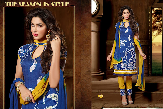Purchase Bhagalpuri Silk Printed Dress Material