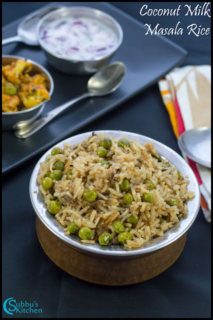 Coconut Milk Masala Rice(Thengai Paal sandham)