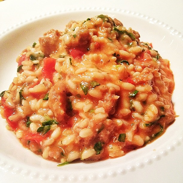 Tomato And Sausage Risotto Recipe — Dishmaps