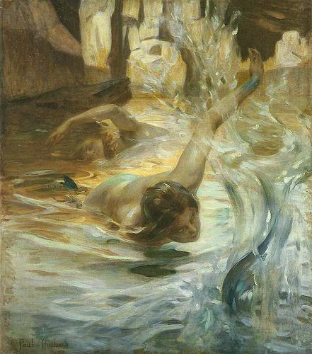 histoire de l'art analyse de peinture et tableaux explication emile chabas tableaux image de femmes dans l'eau naïades sirènes tableaux images romantiques féériques tableaux classique de l'histoire de l'art