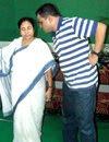 Bratya Basu with Mamata Banerjee