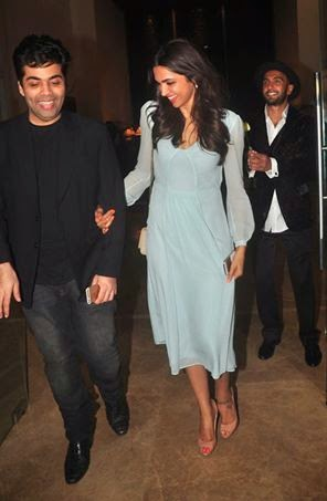 Ranveer, Deepika Padukone, Aishwarya & Karan Johar at Farah Khan's 50th birthday party