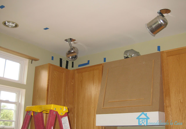can lights being installed in kitchen