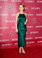 Brie Larson goes braless in green satin slip dress at the Palm Springs International Film Festival red carpet
