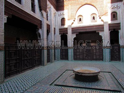 Zellige Colone : Colonnes et riad en zellige traditionnel marocain du fes