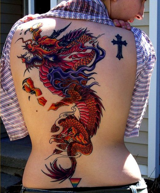 Excellent Dragon Tattoos for Girls