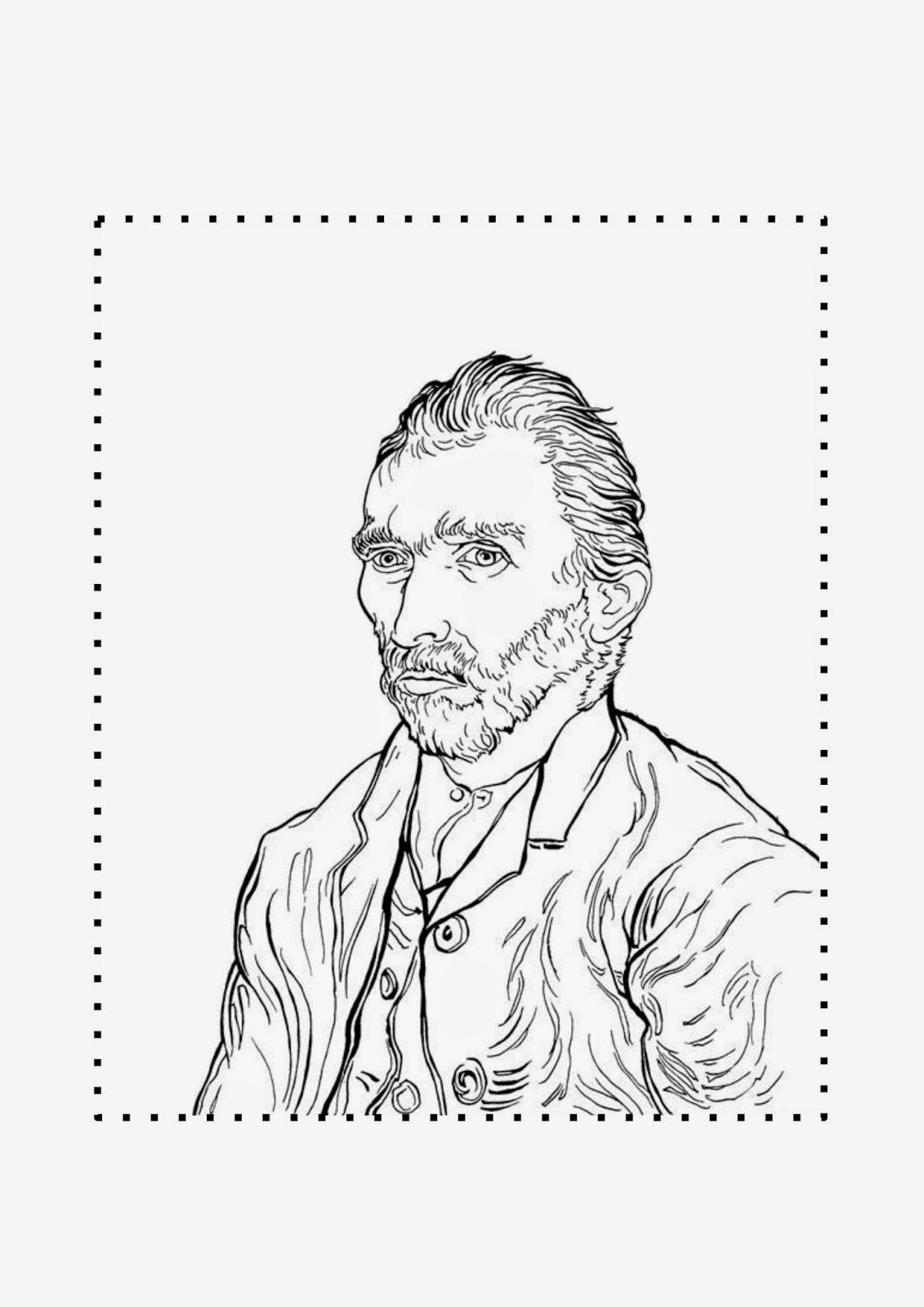 Bonito Vincent Van Gogh Para Colorear Viñeta - Dibujos Para Colorear ...