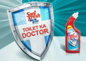 Free Sample OF Sanifresh Germ Guard Toilet Cleaner