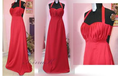 abito rosso,abito con drappeggio,come fare drappeggio a punto sfilza