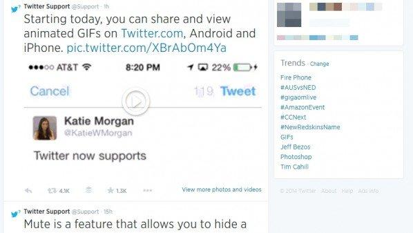 تويتر تدعم الصور المتحركة بلاحقة GIF رسميًا