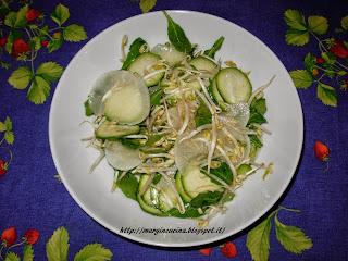 insalatina con germogli di soia