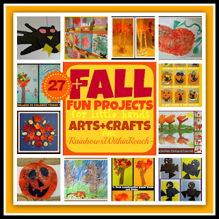photo of: Fall Fun Projects for Little Hands: Arts + Crafts via RainbowsWithinReach RoundUP