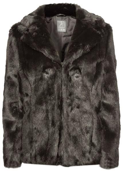 Abrigo Fur negro de estilo vintage de Primark
