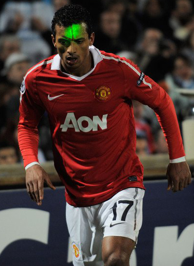 Champions League, Luis Nani Man Utd, Laser Light