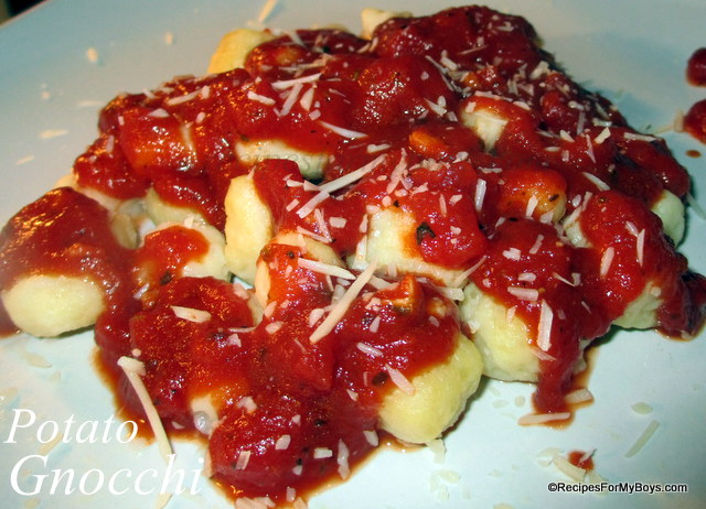 Recipes For My Boys: Potato Gnocchi
