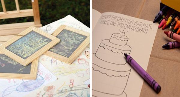 intrattenere i bambini a un matrimonio