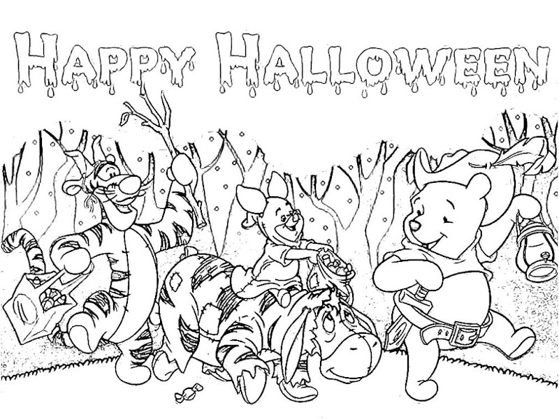 Picture of Happy Halloween Coloring Pages for Kids title=