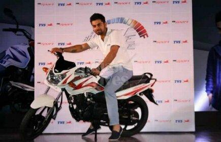 Virat Kohli With His Bike Virat Kohli Bike Advertisement
