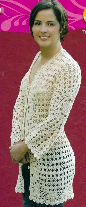 Saco de verano en  crochet dama