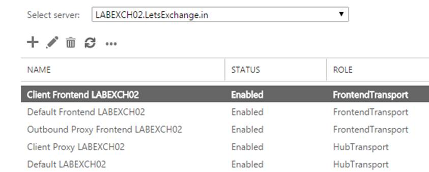 Default Receive connectors in Exchange Server 2016