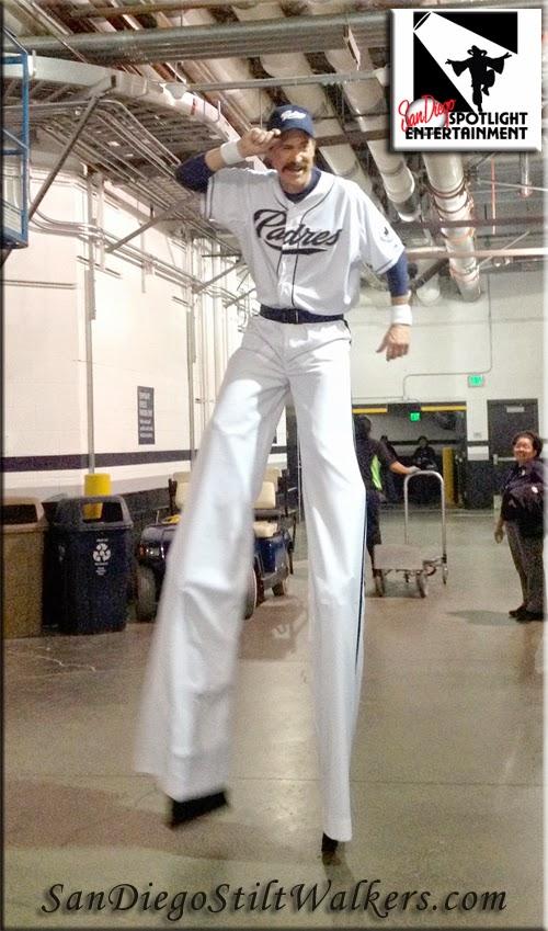 San Diego Stilt Walkers Padre Petco Park