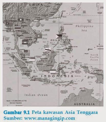 peta keadaan geografis asia tenggara