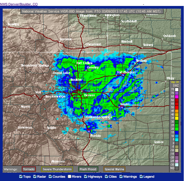Colorado Weather Blog: Powerful Winter Storm Dumping Heavy