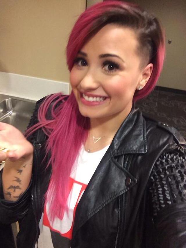Demi Lovato se cambio el color de su cabello a rojo