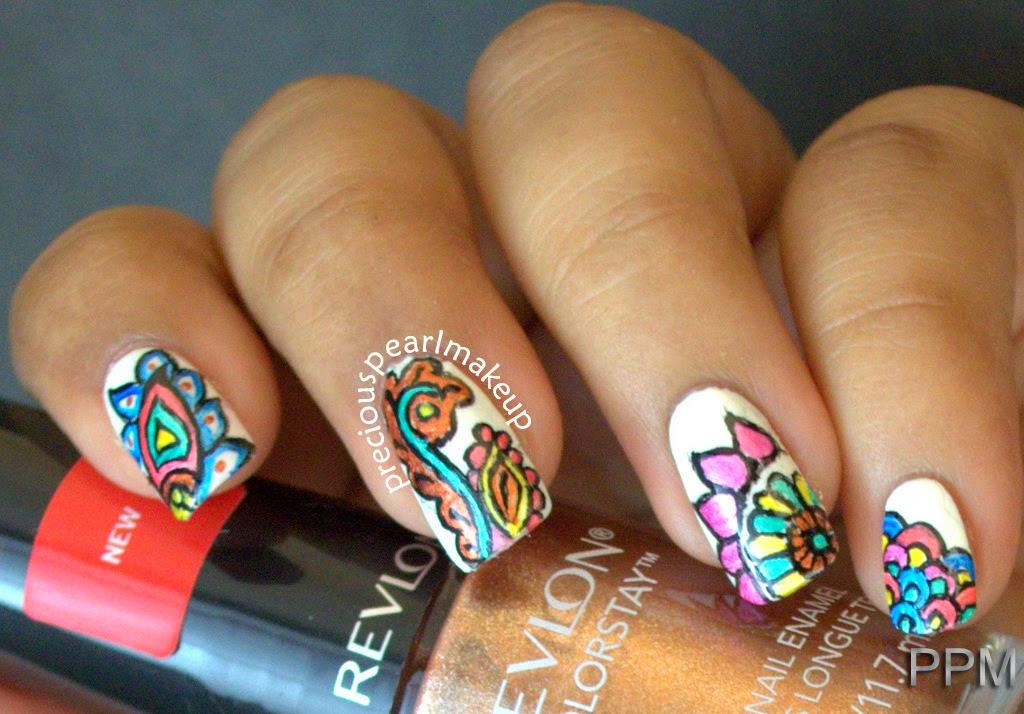 Henna Inspired Nail Art