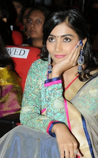 Actress Pooja Hegde Latest Pictures in Saree at Mukunda Audio Release Function  27.jpg