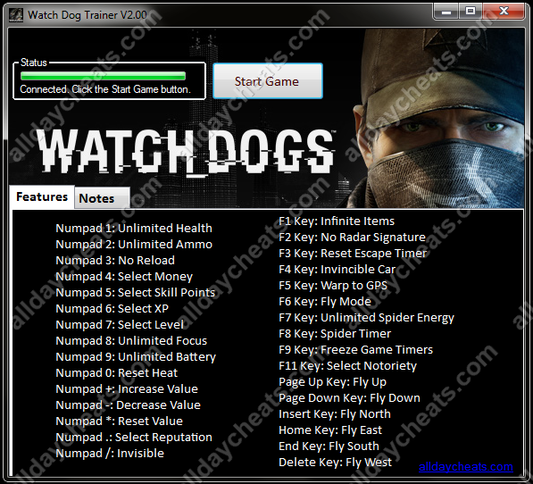 Watch Dogs  Cheat Trainer