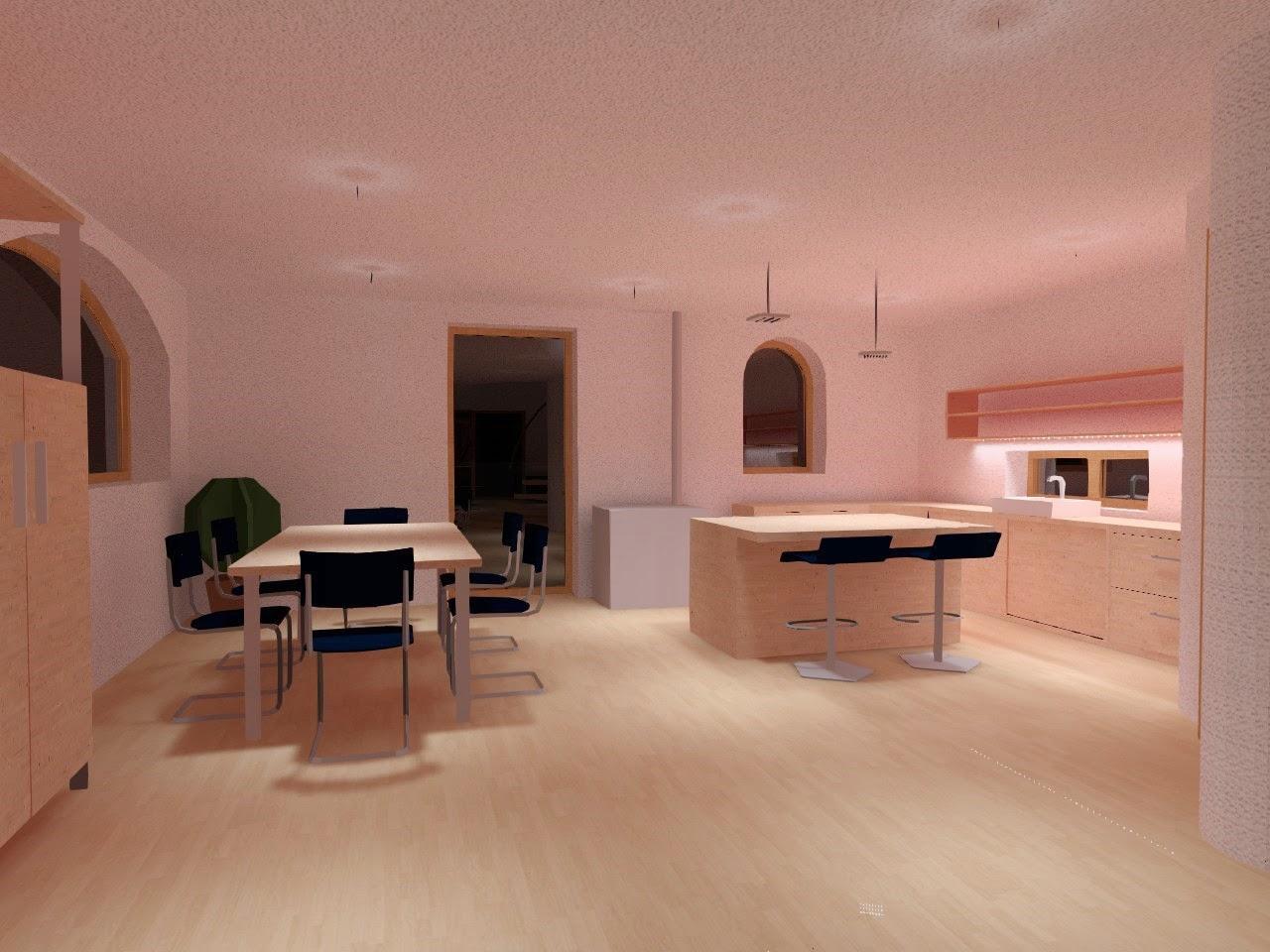 Luci soffitto travi a vista: illuminazione per soggiorno soffitto ...