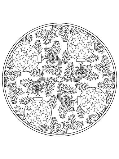 Dibujos y Plantillas para imprimir Mandalas navidad