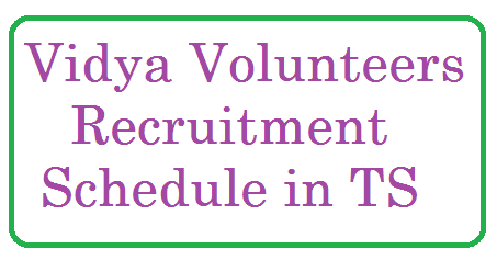 Rc 330 Telangana State  Vidya Volunteers Recruitment Schedule 2015 Vidya Volunteers Recruitment Schedule in the Telangana State  Rc.330 dated 03.09.2015 has issued by the director of school education.All ready TS GO.No.162  issued in previous day for TS Vidya Volunteers Recruitment 2015 Guidelines Engaging VVs Recruitment of TS Vidya Volunteers 2015 Schedule Guidelines for engaging VVs  Selection Process Eligibility Remuneration Educational Qualifications Application Form  Last Date All Districts Selections Lists of Academic Instructors in  TS schools details rc-330-vidya-volunteers-recruitment-schedule-in-telangana