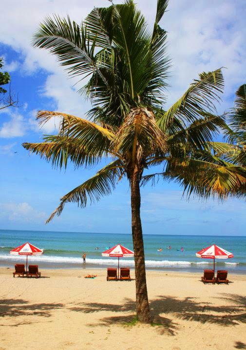 View of Seminyak Beach Bali