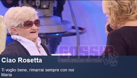 Rosetta Uomini e donne morta