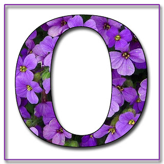 S Alphabet In Flowers Purple Flowers