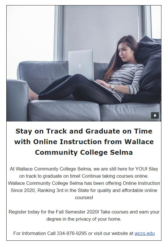 GET YOUR DEGREE ON TIME! WALLACE COMMUNITY COLLEGE SELMA | DEMOPOLIS