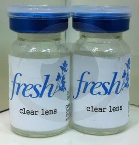 optikku softlens fresh clear lensa kontak bening tahunan permanen korea