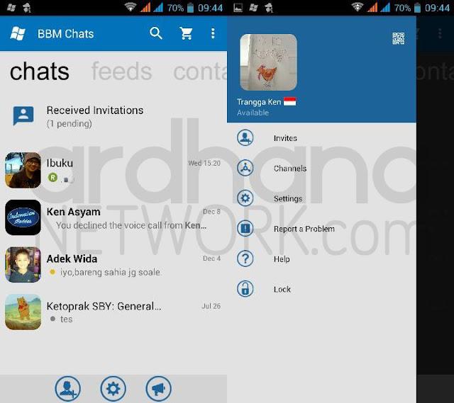 Preview BBM Windows Phone - BBM Android V2.11.0.16