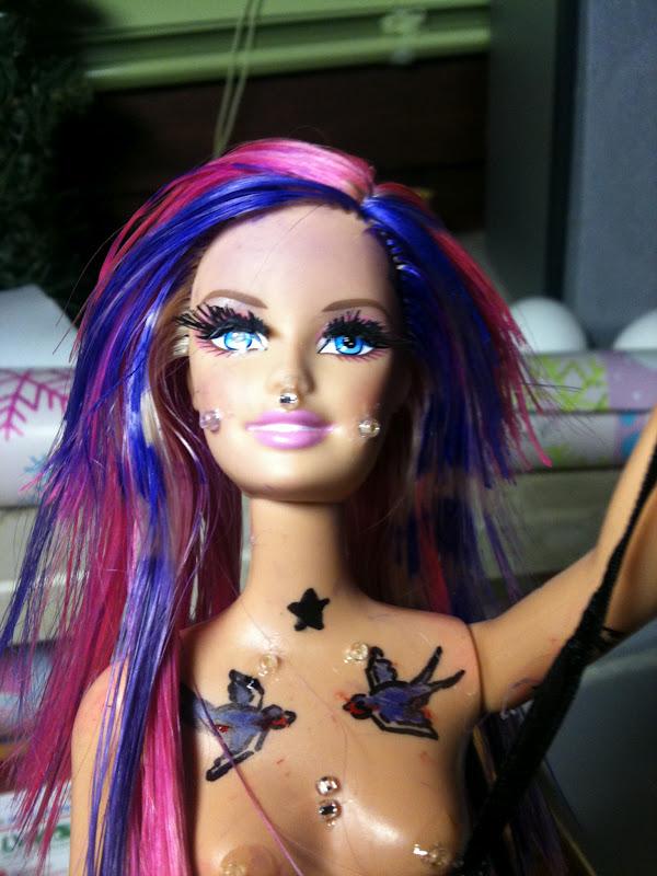 barbie haare machen