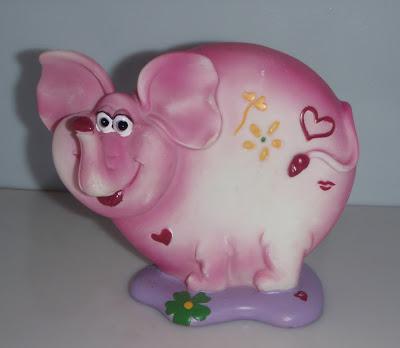 Rózsaszín elefántos persely