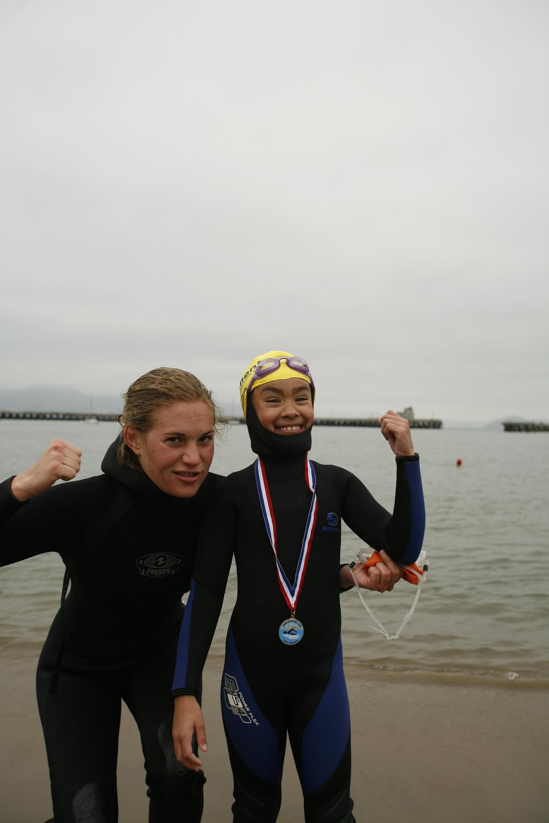 Finish Line of World Record Swim