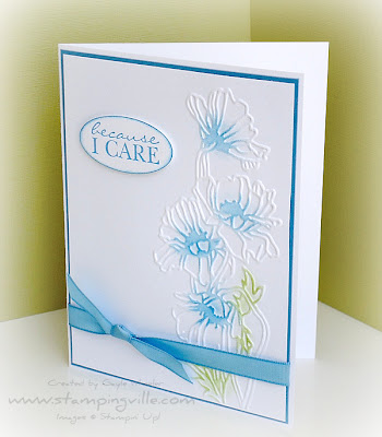 Flower Garden Embossing Folder Card Sample