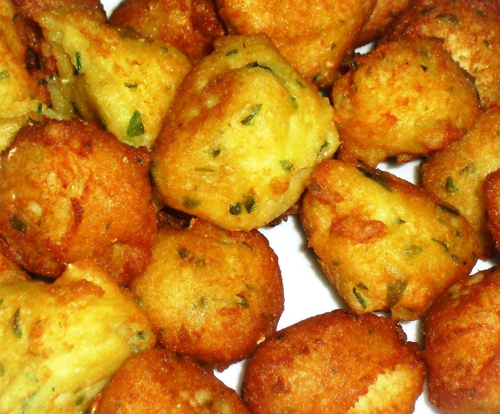 Para un apuro bu uelos de patata y bacalao - Bacalao con garbanzos y patatas ...
