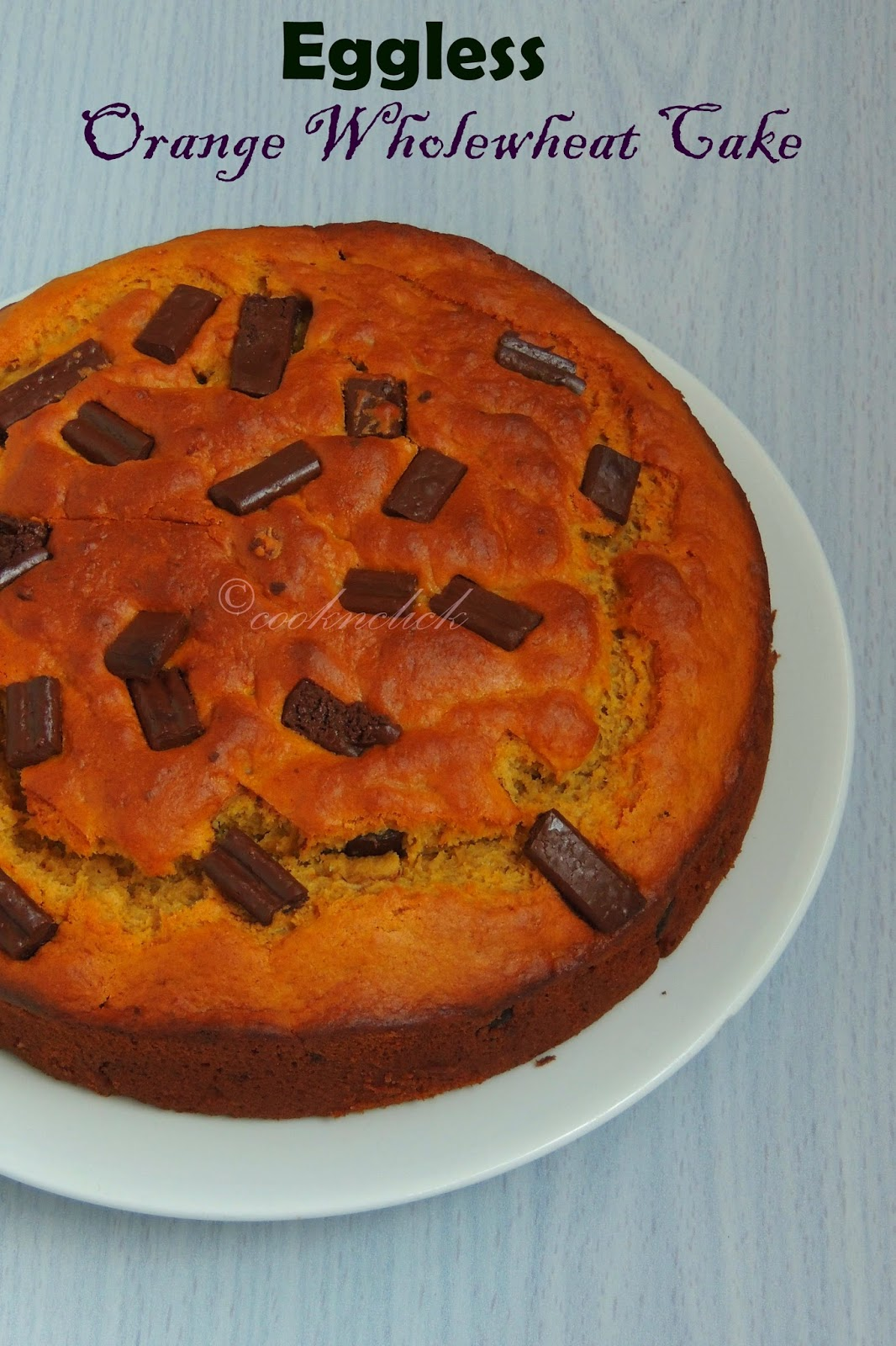 Orange wholewheat cake, eggless orange wholewheat cake