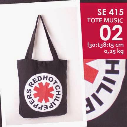jual online tote bag kanvas murah tema musik logo grup band rhcp