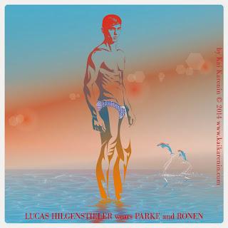 Lucas Hilgenstieler in The Swim Suite, swimwear editorial by Kai Karenin